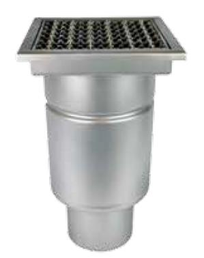 Anti- scent FLOOR DRAIN, vertical with square upper part, single- part