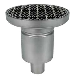 Mini- round Profi floor drain, vertical, single- part